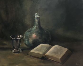 Book with tin cup by Willeke Timmer