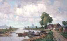 Farmhouse on the water