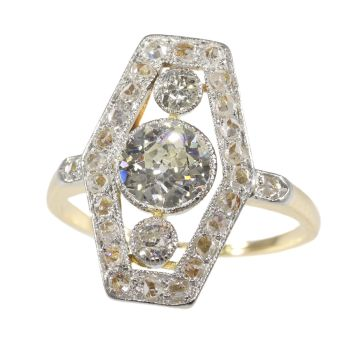 Vinage diamond engagement ring from the Belle Epoque Era by Unknown Artist