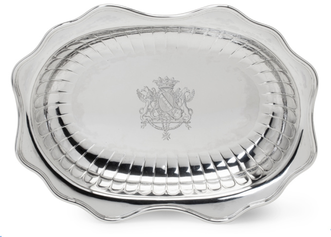 Belgian silver basin  by Gaspard de Moitemont