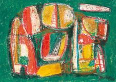Composition (green) by Jaap Nanninga