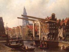 Town-view on Amsterdam, the Zuiderkerk