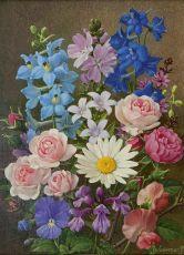 Colourful summer bouquet