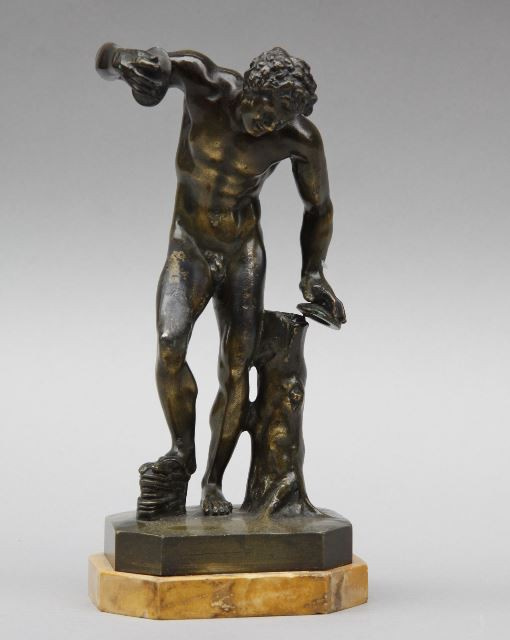 Sculpture dancing Satyr, France by Unknown Artist
