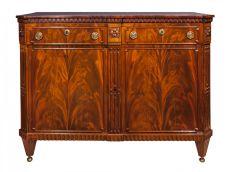 A Dutch transition mahogany sideboard 'klapbuffet' by Unknown Artist