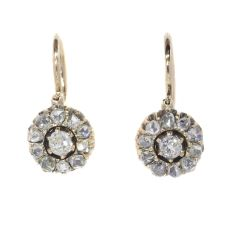 Antique diamond earrings mid 19th Century by Unknown