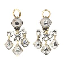 High quality Baroque diamond earrings by Unknown