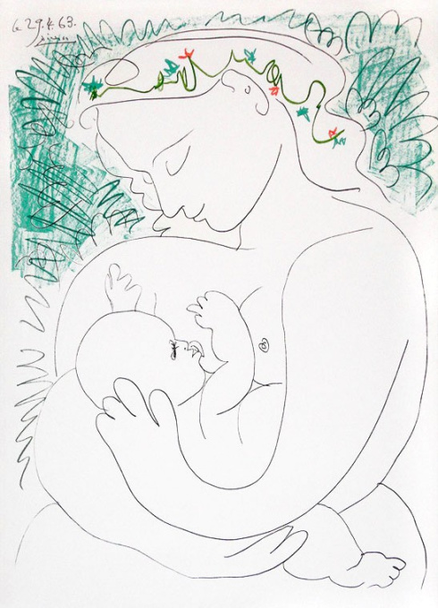 Grand Maternite by Pablo Picasso
