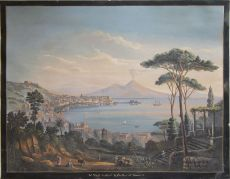 Pair Grand Tour views of Naples by Unknown Artist