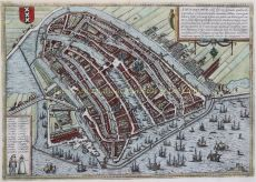 Amsterdam,  Braun en Hogenberg by Braun, Georg