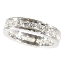 White gold estate eternity band or a so-called alliance ring set with brilliants by Unknown Artist