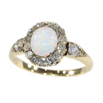 Victorian diamond and opal ring by Unknown Artist