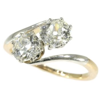 Belle Epoque toi and moi engagement ring with two one carat diamonds by Unknown Artist