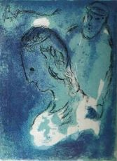 Abraham et Sara by Marc Chagall