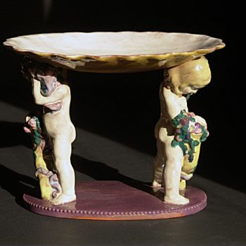 Ceramic with human figures by Michael Powolny