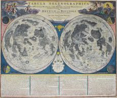 Map of the Moon by Johann Baptist Homann
