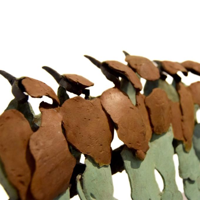 Group of bee-eaters by Jozephine Wortelboer