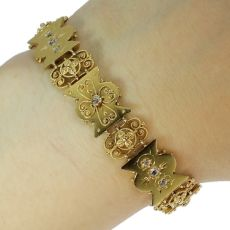 Antique bracelet gold Victorian diamond bracelet by Unknown Artist