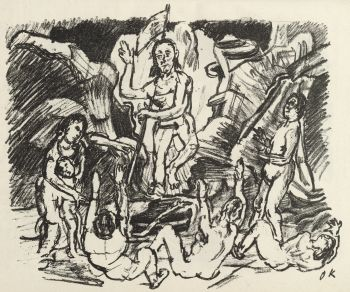Auferstehung / Resurrection by Oskar Kokoschka