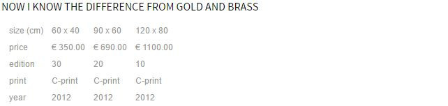 Now I know the difference from gold and brass by Neil Ta