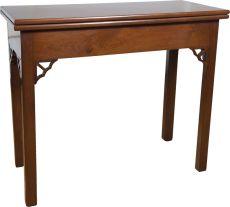 A Cuban mahogany card table, England