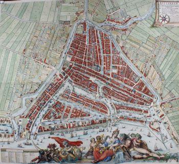Wall map of Rotterdam  by  Johannes de Vou/ Romeijn de Hooghe