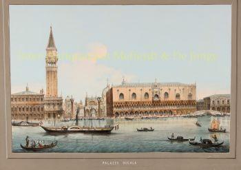 19th century view of Venice  by  Eugenio Testolini
