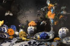Dutch Still Life in Delftware by Hans Withoos