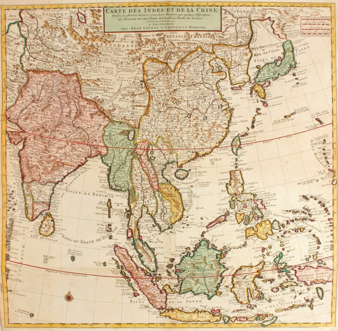 Map of Southeast Asia by Guillaume De l'Isle