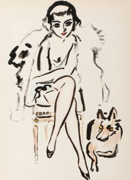 Jeune femme au chien by Kees van Dongen