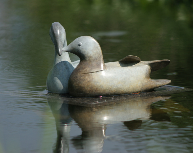 Mandarin Ducks Couple by Mark Dedrie