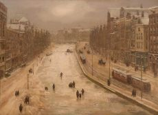 Rokin in Amsterdam (before 1932) by Gerard Johan Staller