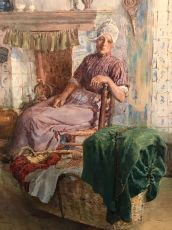 Domestic scene by William Rainey