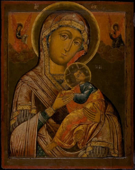 Russian Icon: The Mother of God of the Passion by Unknown Artist