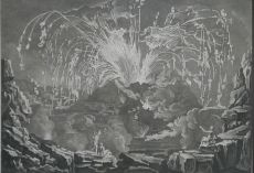 Encyclopedie: Eruption of Mount Vesuvius in 1754; Copper engraving from: Diderot & d'Alembert 'Encyc