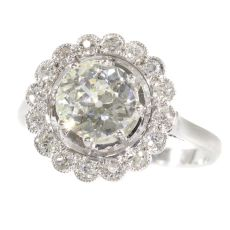 Platinum Art Deco diamond engagement ring by Unknown Artist