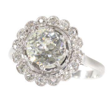 Platinum Art Deco diamond engagement ring by Unknown Artist