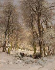 Winterlandscape Het Haagse Bos by Louis Apol
