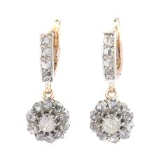 Antique rose cut diamond earrings by Unknown Artist