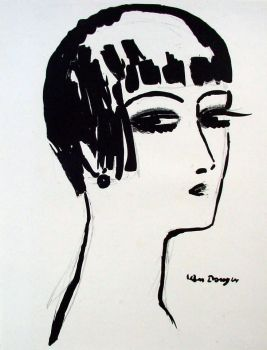 Les Cheveux Courts, litho 1926 by Kees van Dongen
