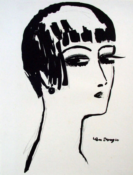 Les Cheveux Courts, litho 1926 by Kees van Dongen