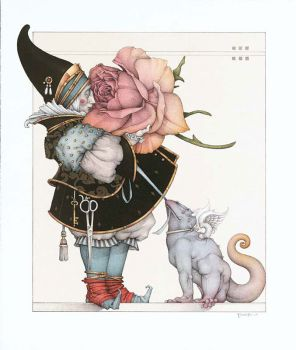 The Rose Collector by Michael Parkes