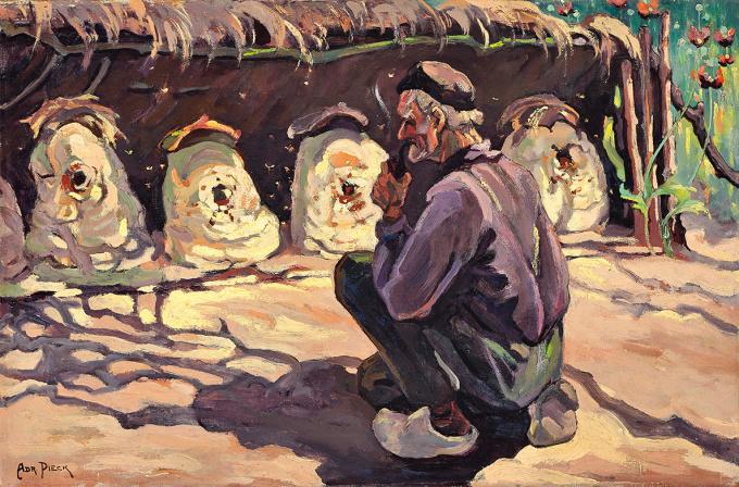 The Old Beekeeper; Maartensdijk by Adriana Jacoba Pieck