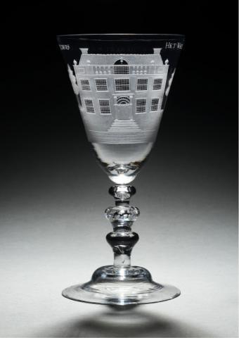 Goblet with 'De Hoornderegt' by Unknown Artist