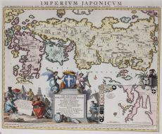 Japanese map with sixty six regions, described by Adriaan Reland by Unknown Artist