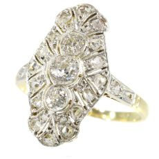 Genuine Vintage Art Deco diamond engagement ring by Unknown Artist