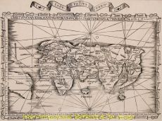 EARLIEST OBTAINABLE MAP OF THE WORLD TO INCLUDE THE NAME AMERICA  by Fries, Laurent