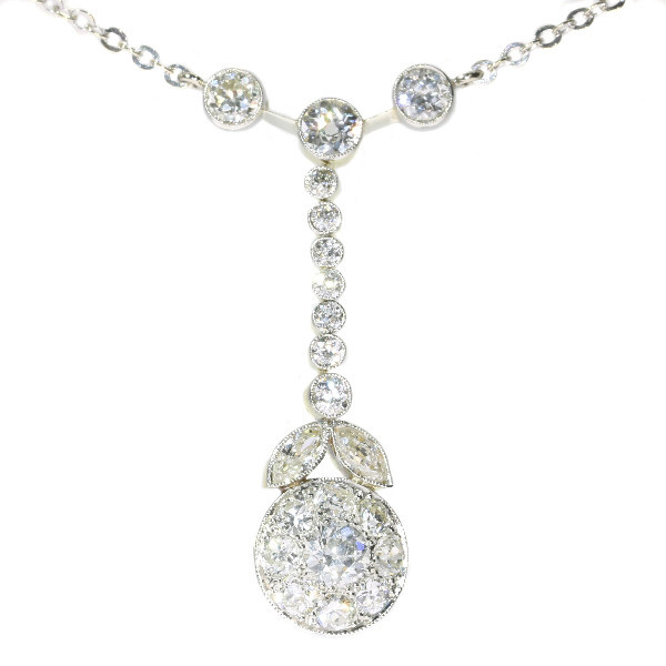 French Art Deco diamond pendant by Unknown Artist