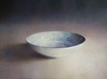 Blauwe schotel by Anneke Elhorst
