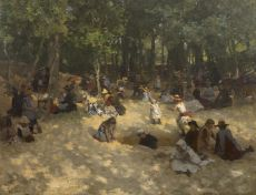 A sunny day at the Scheveningse Boschjes by Willem Bastiaan Tholen